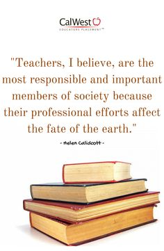 Thank a #teacher today! #CalWestCares #education