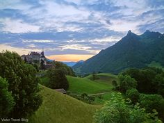 Castles in Switzerland. Gruyeres Castle.