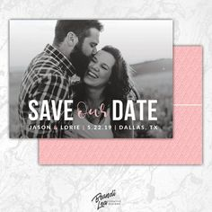 save the date photoshop template 2 sided customizable photoshop