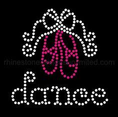 Dance Bling DIY Rhinestone Transfer by rsdunlimited on Etsy, $15.00