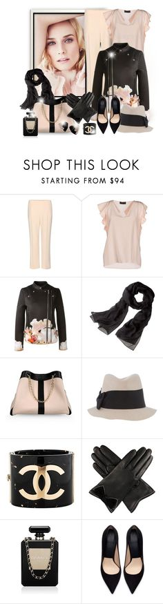 """""""Black, peach - 220215"""" by melaniamar ❤ liked on Polyvore featuring Chloé, Jo No Fui, Givenchy, Reed Krakoff, See by Chloé, Marella, Chanel, Dents, Zara and Yves Saint Laurent"""