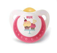Nuk chupete cup cakes con tetina anatomica de látex. #Nuk #bebes #farmacia #chupetes