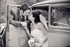 Vintage car for photos with bride and groom. Elliston Vineyards, Sunol CA #wedding #bride