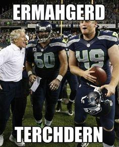 Terchdern! Seahawks beat the Broncos ( AGAIN ) in OT 26-20!! Lynch was in serious Beast Mode!! 09.21.14
