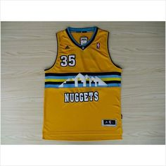 e43f1a85a Mens Denver Nuggets Kenneth Faried 35 Yellow Authentic Swingman NBA Jersey  on eBid United States