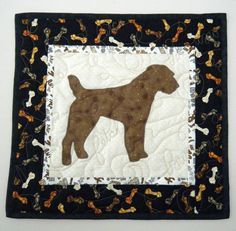 Jack Russell Terrier Quilted Mini Dog Wall by doodlebugquilts