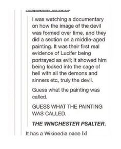 People know that Winchester is a city in England right? With a cathedral? It's not very exciting