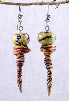 Twister Earrings - Polymer Clay by Stories They Tell, via Flickr