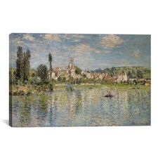 """""""Vetheuil in Summer 1880"""" by Claude Monet Painting Print on Wrapped Canvas"""