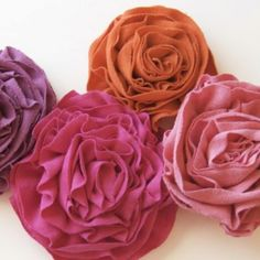 i need to learn how to make these! t-shirt rosettes