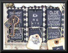 Love these altered mouse traps - could use chalkboard paint