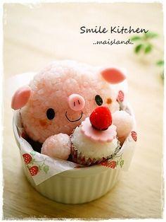 Cute pig bento