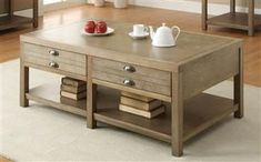 Casual Light Oak Coffee Table CST-701958 by Coaster Furniture