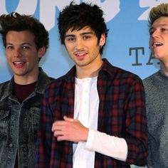 Louis, Zayn and Niall at the Japan press conference
