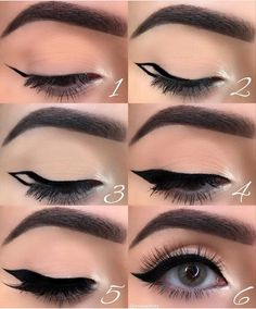 makeup eyeliner looks * makeup eyeliner ; makeup eyeliner looks ; Makeup 101, Makeup Hacks, Makeup Goals, Makeup Inspo, Makeup Inspiration, Makeup Geek, Makeup Ideas, Makeup Guide, Beauty Makeup Tips