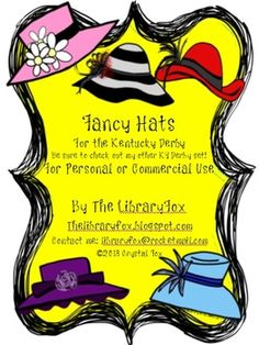 Derby Hats for the Kentucky Derby Matches KY Derby Clip Art Set