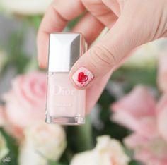 Idée nail art de Saint Valentin