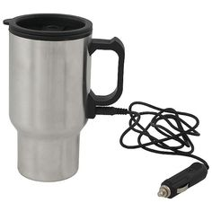 Keep your coffee warm for those cold mornings in the unbearable city traffic. Thermal Mug, Gadget Gifts, Car Lights, Drinkware, Laser Engraving, Kettle, Charger, Mugs, Mornings
