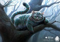 Alice in Wonderland: Cheshire Cat Concept, Michael Kutsche on ArtStation at https://www.artstation.com/artwork/2nGBA