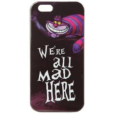 Disney Alice In Wonderland Cheshire Cat iPhone 6 Case Hot Topic found on Polyvore featuring accessories, tech accessories, phone and disney
