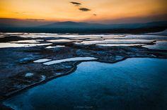 Sunset over Pamukkale Travertine pools by Peter-Cassar on deviantART