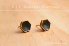 We all love a good hexagon at the moment right! In this tutorial I'm going to show you how to make these super cool hexi earrings in only a few minutes! Ok so that doesn't count baking time but they are seriously so simple to make! You will needPolymer clay – I used FimoMetal shapes …