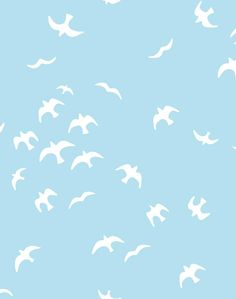 'Gulls' Wallpaper by Tea Collection - Baby Blue - Removable Panel - Sample