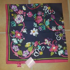 """Vera Bradley Silk Scarf Brand new Vera Bradley silk scarf. Pattern is """"ribbons"""" which is discontinued. 100% silk. Really soft and super cute to accessorize anything! Vera Bradley Accessories"""