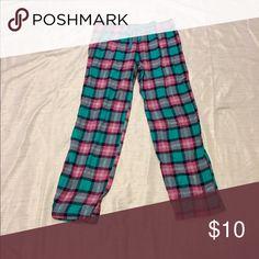 Sonoma Turquoise and Pink Plaid Pajama Pants Cotton Sonoma Intimates & Sleepwear Pajamas