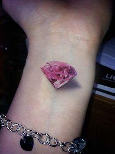 tatoos diamant | Items similar to 3D Pink Diamond Temporary Tattoo set 2 on ...