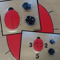 "Ladybird inspired play activities for the Early Years classroom - from Rachel ("",) Maths Eyfs, Eyfs Activities, Nursery Activities, Numeracy, Simple Addition, Math Addition, Kindergarten Addition, Early Years Maths, Early Years Classroom"
