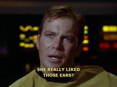 Kirk calls shenanigans on Spock.