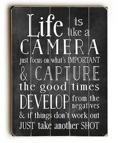Look at this #zulilyfind! 'Life Is Like a Camera' Wall Art #zulilyfinds