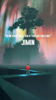 So true, Jimin you are wiser than you think you are!☺️ I love Jimin so much and this art work is beautiful! K Wallpaper, Jimin Wallpaper, Wallpaper Quotes, Bts Jimin, Bts Bangtan Boy, Bts Lyrics Quotes, Bts Qoutes, Bts J Hope, K Pop