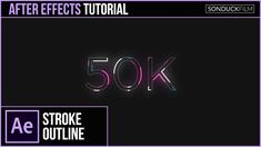After Effects Tutorial: Animated Stroke Outline Title - Motion Graphics