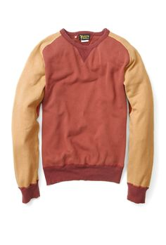 Red Vintage Washed Crew Sweat Top by Levi's Vintage Clothing