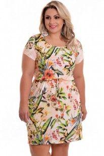 Vestido Plus Size Maria Flores