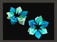 Origami flower  -  Easter basket decoration. Gift Decor