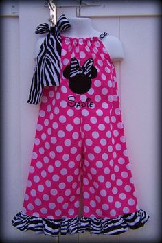 Custom Boutique Clothing Girls Disney Minnie by sewsweetsmocking, $42.00