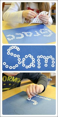 Kids use their fine motor skills to create Snowball Names in this preschool literacy activity