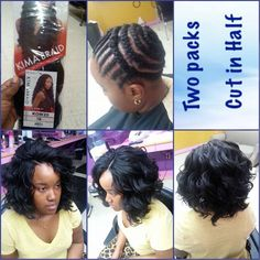 "Crochet Braids with Kima braiding hair ""Ocean Wave"""