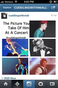 Picture you take of him at the concert