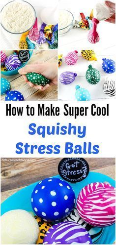 DIY Make Stress Balls Kids Will Love, Super cool squeeze balls, great for anxiety in kids & adults, help with Fidgeting, Easy to make, sensory balls #craftforadults