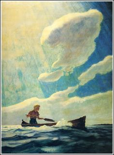 "Wyeth's illustration for ""The Yearling"" Wyeth is probably the best known illustrator in the country. I have included other illustrations of his in American Art: The Wyeths. Jamie Wyeth, Andrew Wyeth, Art And Illustration, Illustrations, Nc Wyeth, Howard Pyle, Edmund Dulac, Art Graphique, American Artists"