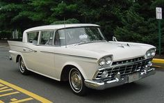 Rambler - my first car. Paid $400 for it. It was turquoise in color.  It was a real nice little vehicle.