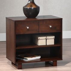 George Tobacco Finish 2-drawer Nightstand - Overstock™ Shopping - Great Deals on Nightstands