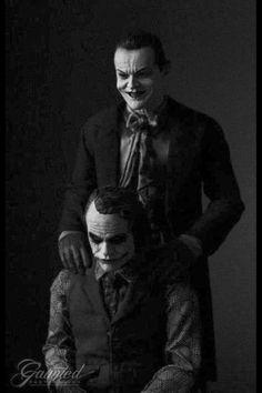 Two Jokers: Heath Ledger & Jack Nicholson