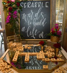 Scrabble Wedding Gue