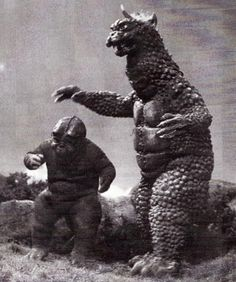 Gabara Vital Stats: Height: 58 meters, Mass: 23,000 tons Powers/Weapons: Able to surge electricity through its body from the horn, causing it to shock anything Gabara touches First Appearance: All Monsters Attack (1969)