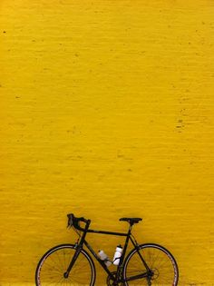 Yellow with bike